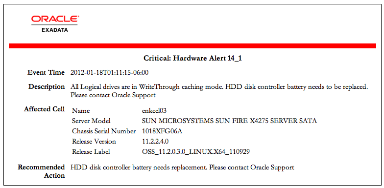 Exadata V2 Battery Replacement – Andy Colvin's Oracle Blog